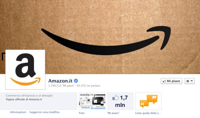 Amazon su Facebook
