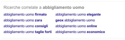 seo ecommerce-google suggerimenti