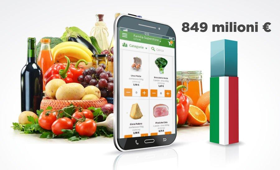 E-commerce alimentare? In Italia vale quasi 900 milioni