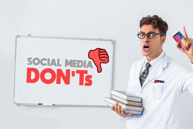 Quattro errori social media da evitare