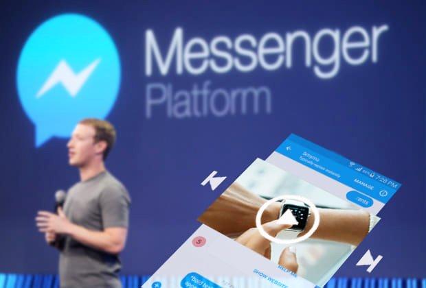 arriva pubblicità messanger facebook video