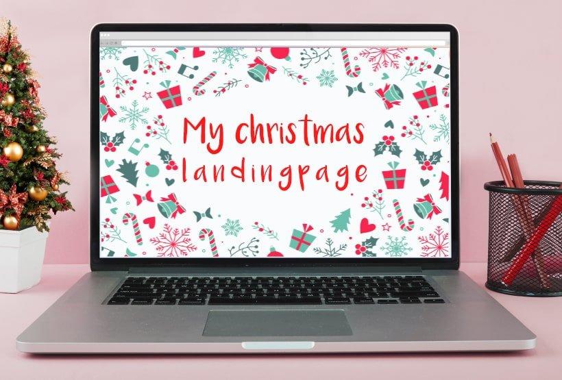 Come creare Landing Page Natale effetto