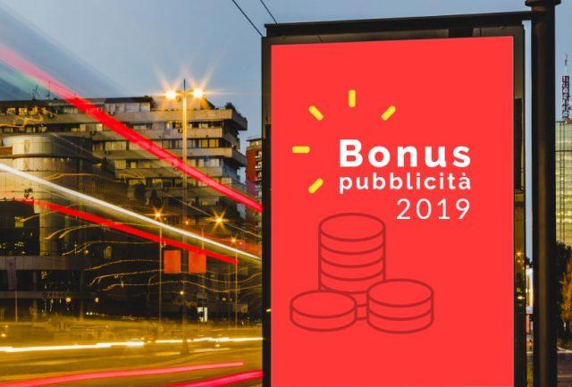 Bonus Pubblicita 2019 come procedere con domanda