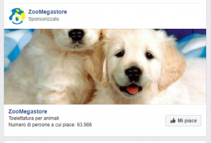 Paid social nel feed di Facebook.