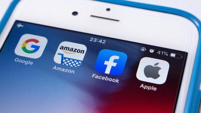 apple Facebook e amazon profitti da record