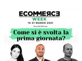 prima giornata EcommerceWeek con Simone Tomassetti, Giuliano Cini, Maddalena Bertoli Tedeschi