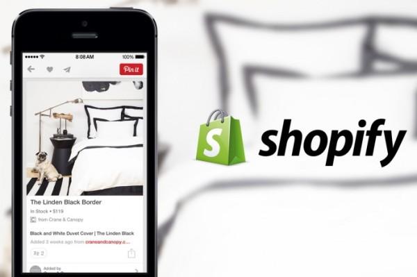 partnership Pinterest e Shopify
