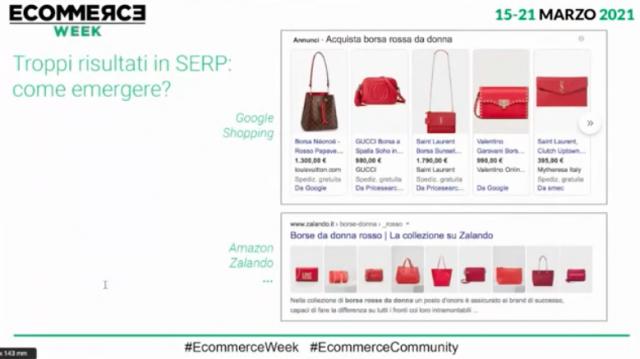 Ecommerceweek con Laura Copelli come ottimizzare l'ecommerce con la seo